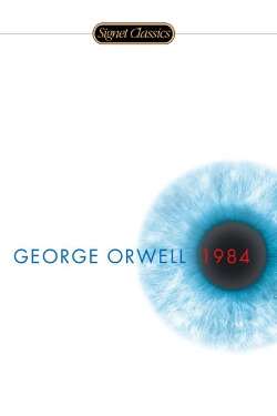 book cover 1984 by George Orwell