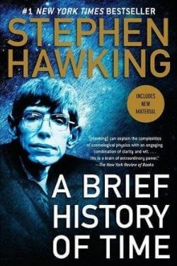 book cover A Brief History of Time by Stephen Hawking