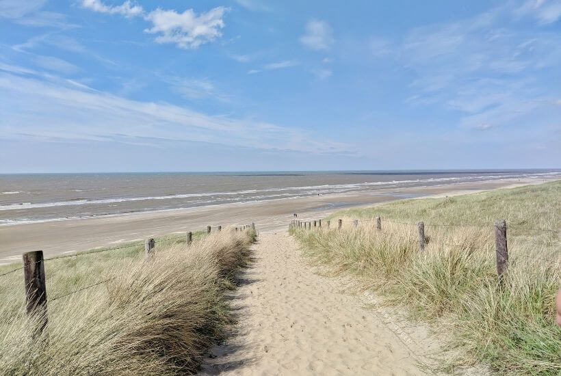 sandy path to the beach, The Netherlands