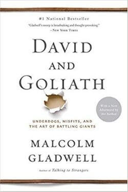 book cover David and Goliath by Malcolm Gladwell