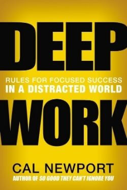 book cover Deep Work by Cal Newport