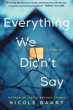 book cover Everything We Didn't Say by Nicole Baart