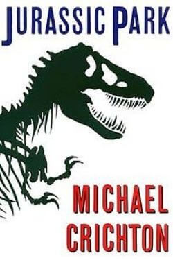 book cover Jurassic Park by Michael Crichton