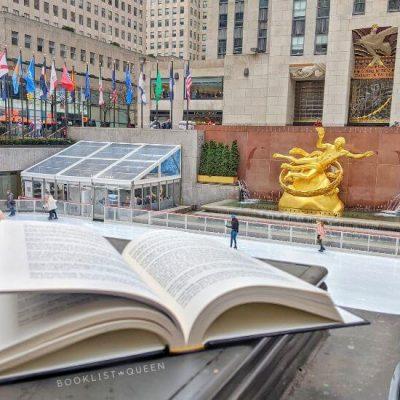 open book at Rockefeller Center ice rink