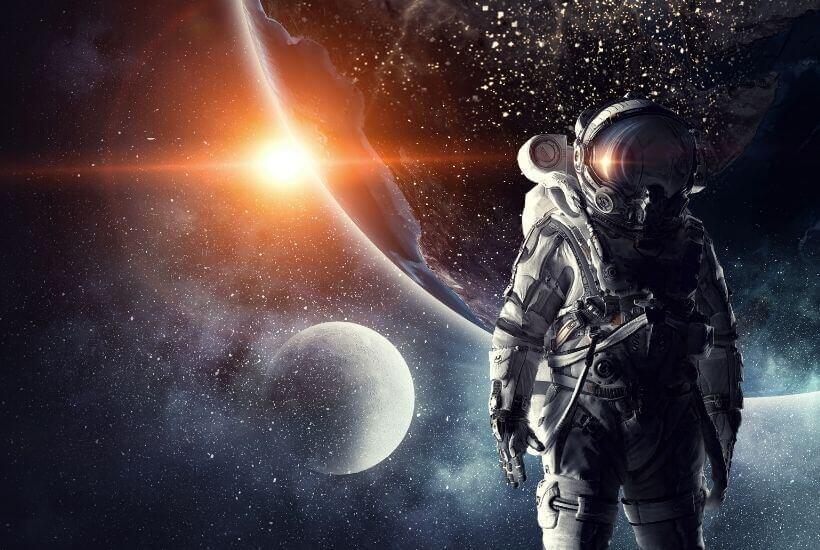 astronaut, moon