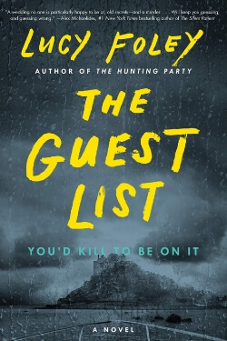 book cover The Guest List by Lucy Foley