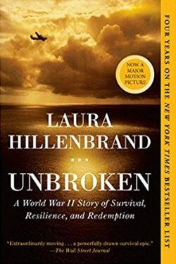 book cover Unbroken by Laura Hillenbrand